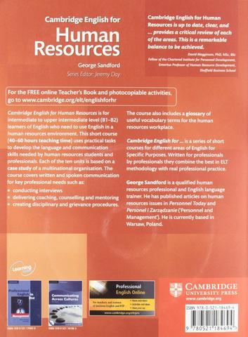 Cambridge English for Human Resources with Audio CDs