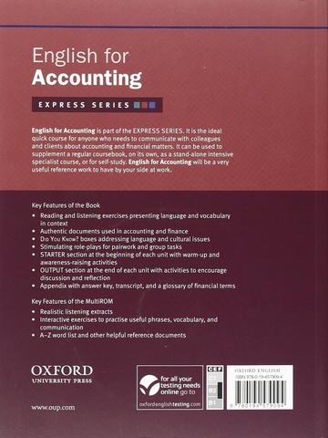 English for Accounting includes a Multirom