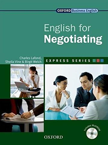 English for Negotiating includes a Multirom front cover