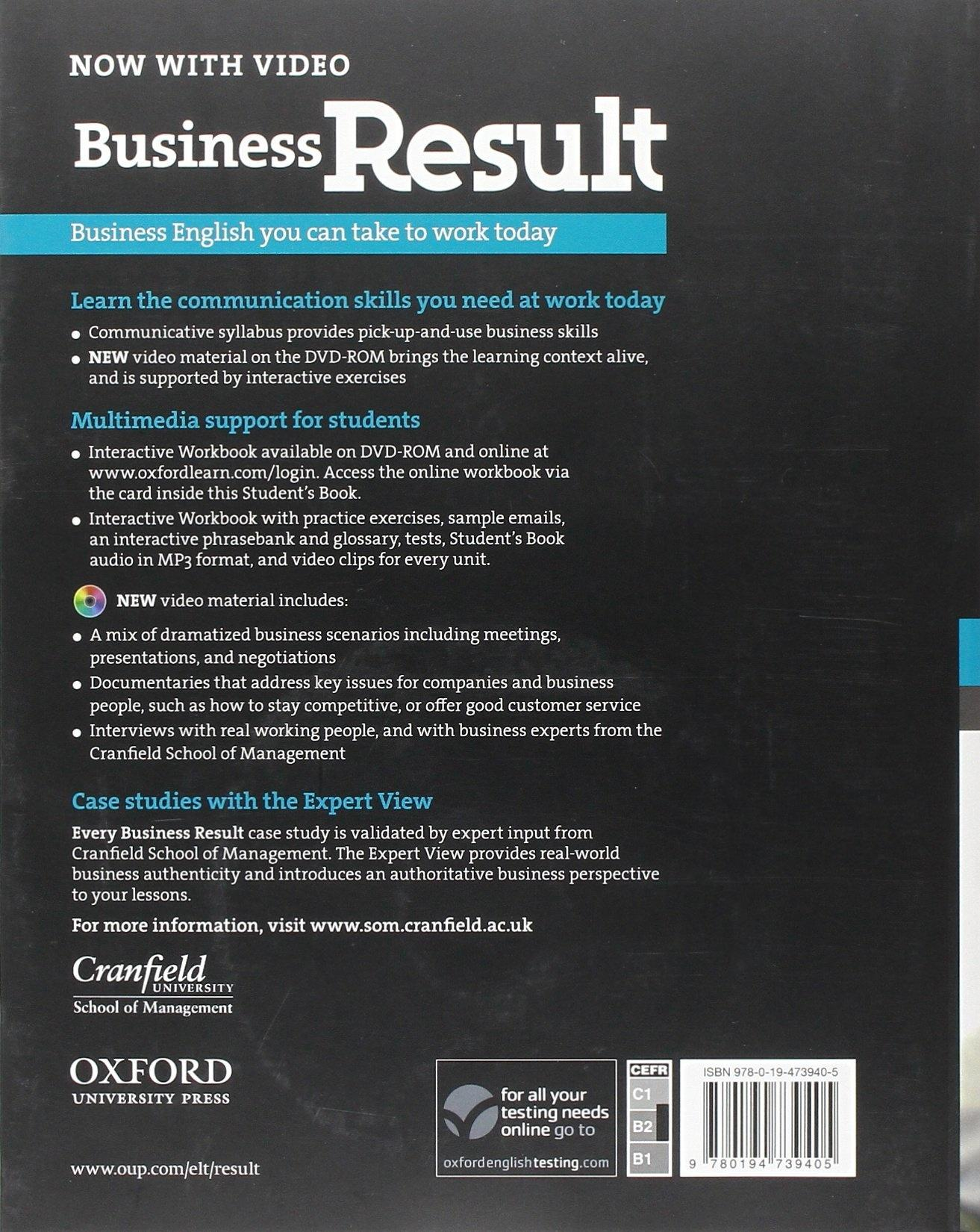 Business Result Upper-intermediate Students Book